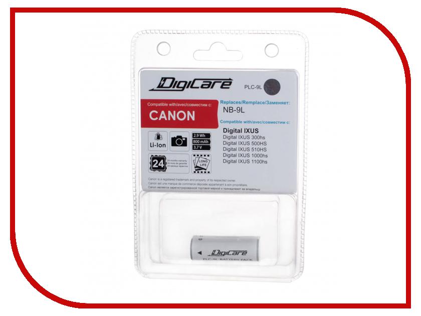 Аккумулятор DigiCare PLC-9L for IXUS 300HS / 500HS / 510HS / 1000HS / 1100HS / N аккумулятор для фотоаппарата digicare plc 9l nb 9l