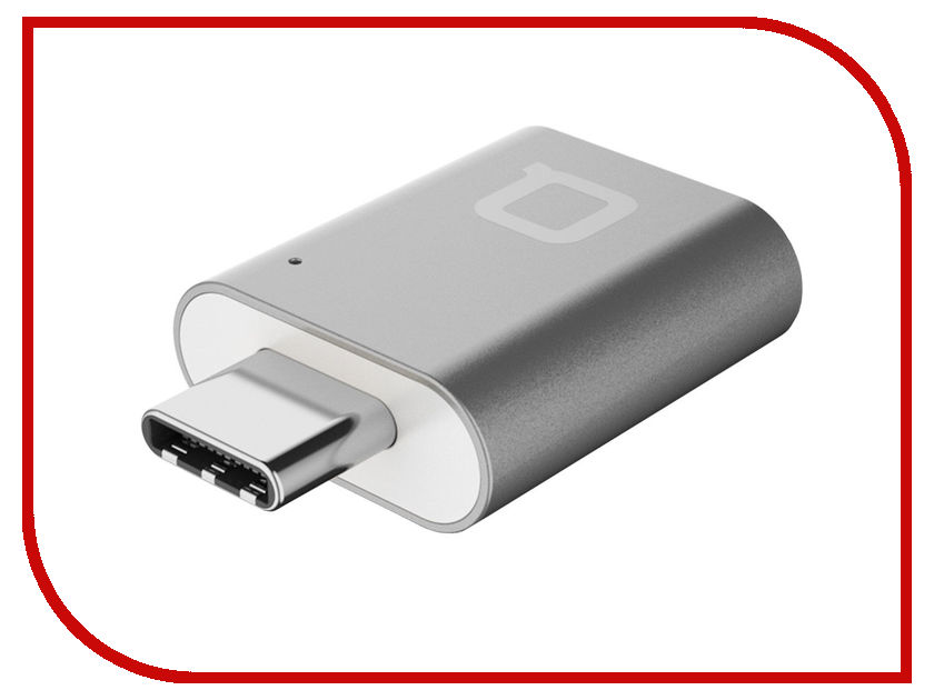 цены Аксессуар Nonda Mini Adapter USB-C to USB 3.0 Gray Space MI22SGRN