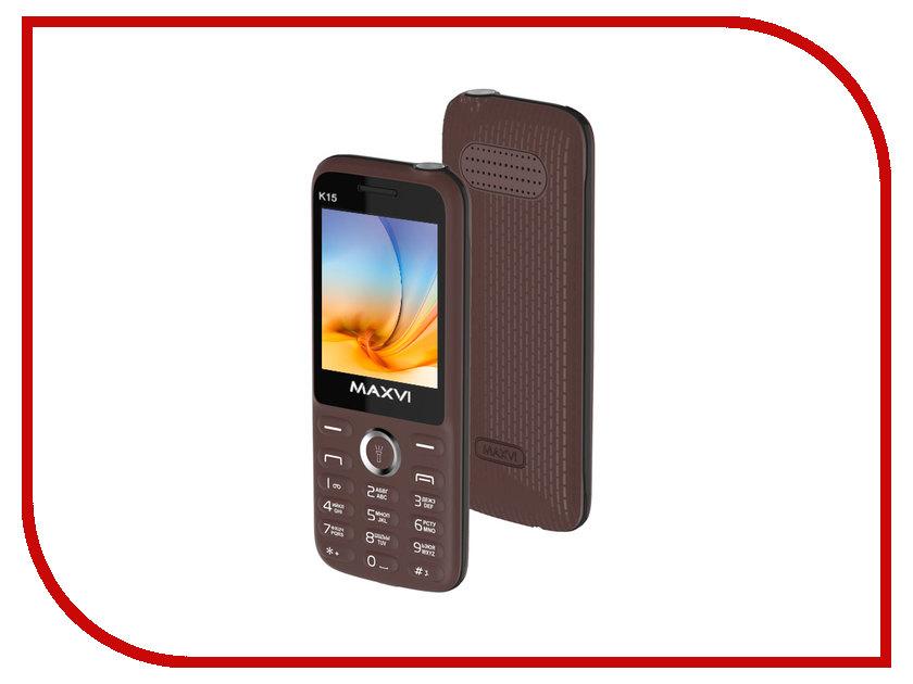 Сотовый телефон Maxvi K15 Brown сотовый телефон maxvi c20 blue