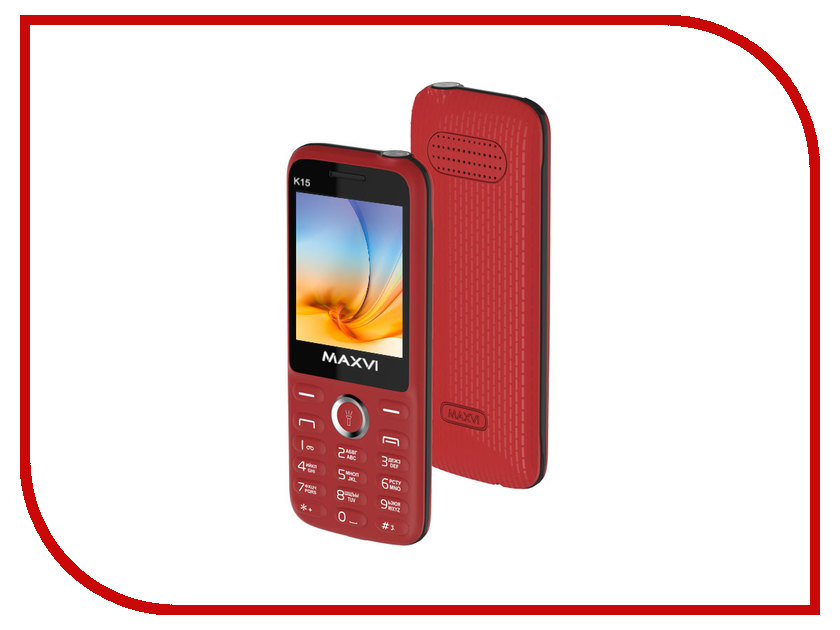 Сотовый телефон Maxvi K15 Red сотовый телефон maxvi c20 blue