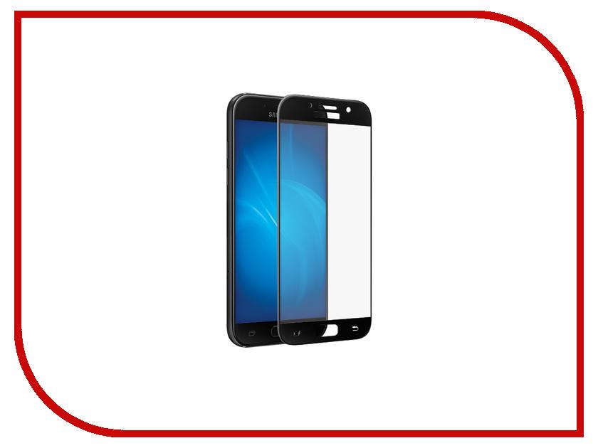 Аксессуар Защитное стекло 2.5D Samsung Galaxy A3 2017 InterStep IS-TG-SAMA320BL Black 000B202 защитное стекло interstep для nokia 5 black is tg nokia5fsb 000b201