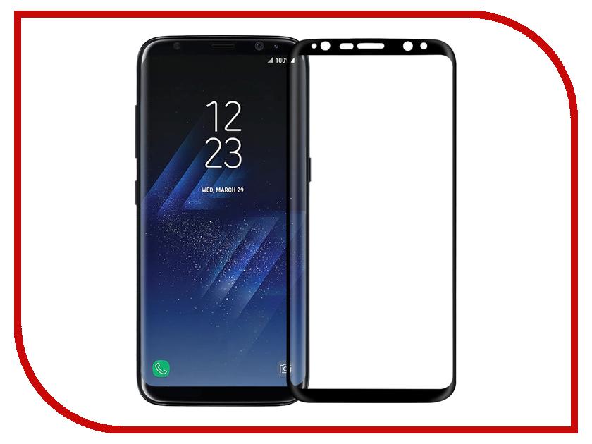Аксессуар Защитное стекло Samsung Galaxy S8 InterStep 3D Full Screen IS-TG-SAMS83DBL Black 000B202 interstep folk case для samsung galaxy s8 black