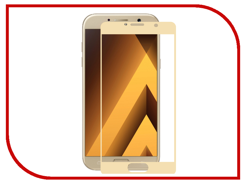Аксессуар Защитное стекло Samsung Galaxy A3 2017 InterStep 3D Full Screen IS-TG-SAMA373DG Gold 000B202 mooncase canvas design leather side flip wallet pouch stand shell back чехол для samsung galaxy s6 edge light brown