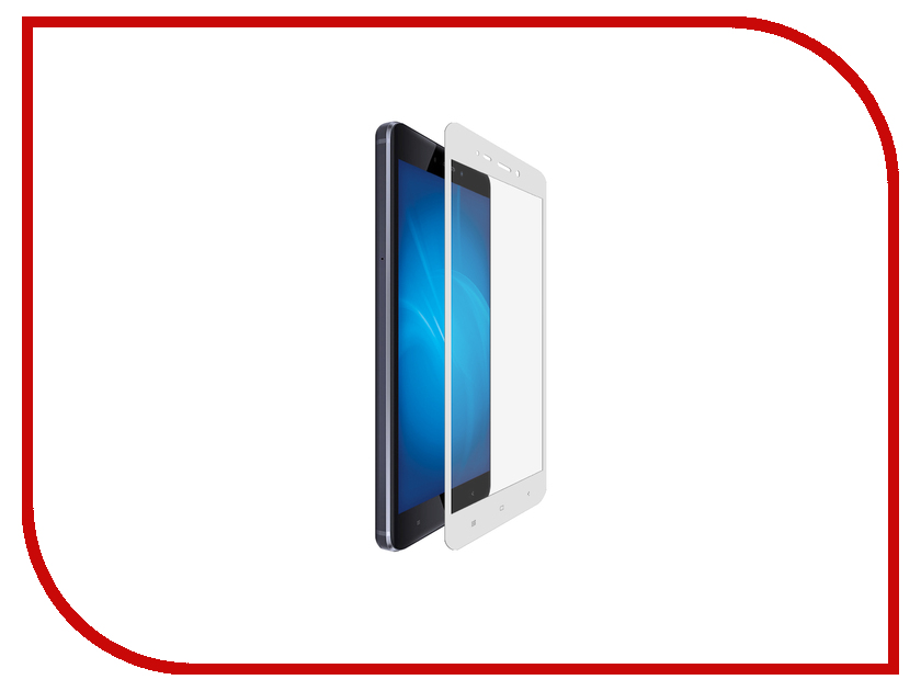 Аксессуар Защитное стекло 2.5D Xiaomi Redmi Note 4X InterStep IS-TG-XIARN4XFW White 000B202 аксессуар защитное стекло xiaomi redmi note 4x borasco full cover black 0 2mm