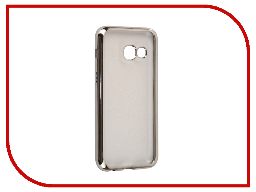 Аксессуар Чехол Samsung Galaxy A3 2017 InterStep Is Frame Silver HFR-SAGA317K-NP1117O K100 аксессуар чехол samsung galaxy a3 2017 cojess tpu 0 3mm transparent