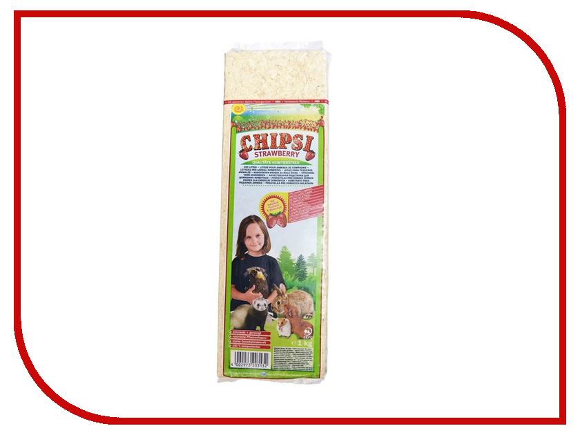 Наполнитель Chipsi Strawberry Древесные 1kg для грызунов