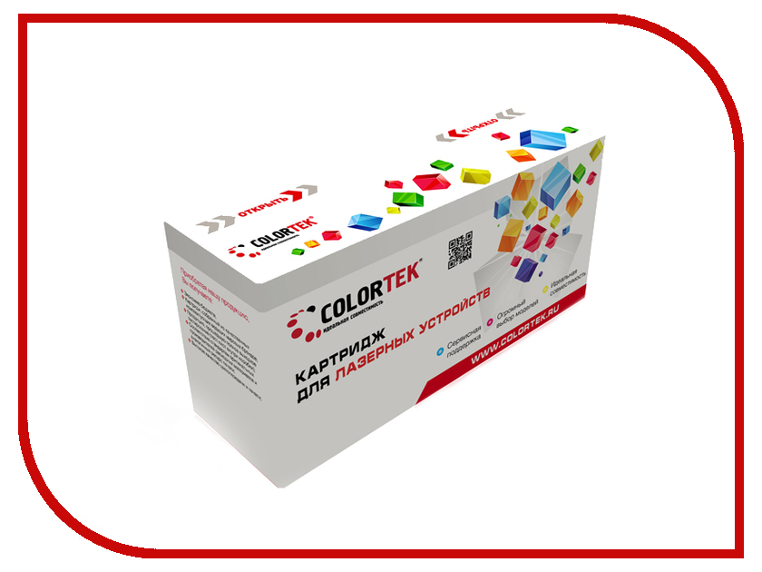 Картридж Colortek Black для LBP-3200/MF-3110/MF-3200/MF-3220/MF-3228/MF-3240/MF-5630/MF-5650/MF-5730/MF-5750/MF-5770 картридж colortek black для 14854 14855 14856 14857 14858 14860 14861