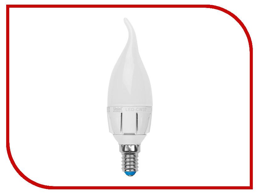 Лампочка Uniel LED-CW37-7W/WW/E14/FR PLP01WH лампа светодиодная uniel led cw37 6w nw e14 fr dim plp01wh