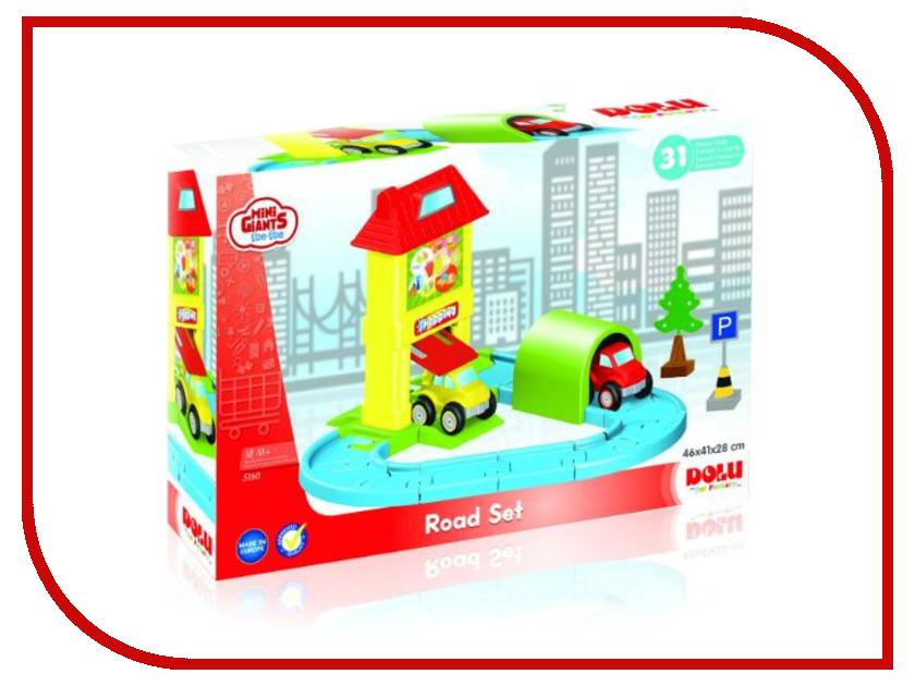 Автотрек Dolu Мини набор с треком DL-5160 качели детские dolu подвесная маленькая пластиковая качелька