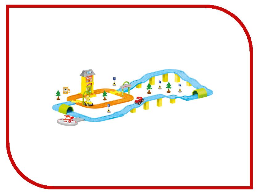 Автотрек Dolu Дорога с машинками DL-5155 качели детские dolu подвесная маленькая пластиковая качелька