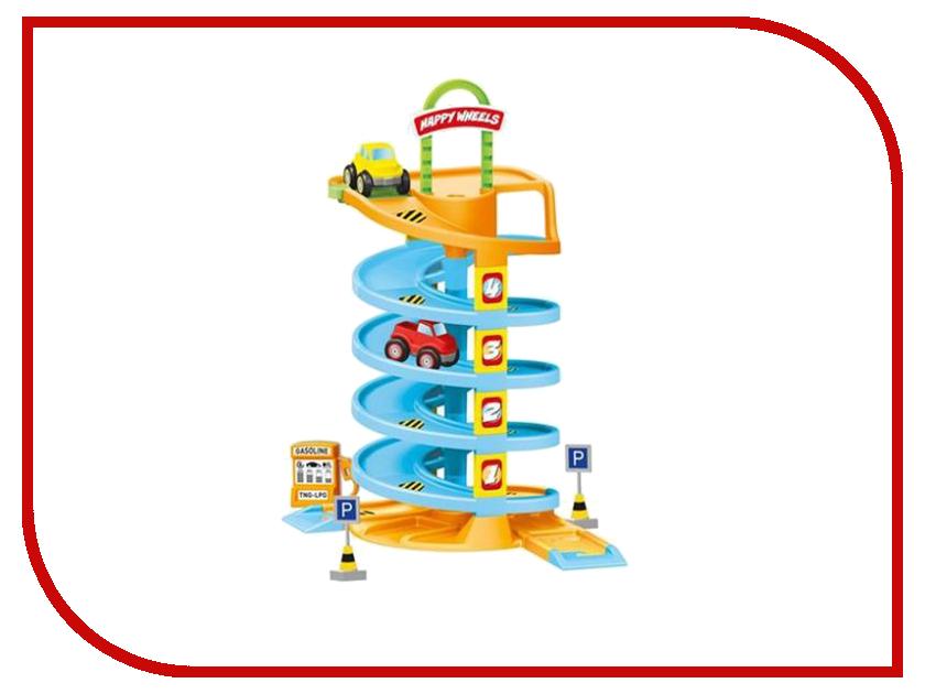 Автотрек Dolu Спиральная дорога с машинками DL-5153 качели детские dolu подвесная маленькая пластиковая качелька