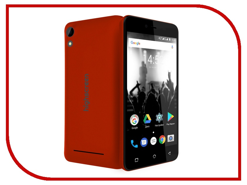 Сотовый телефон Highscreen Easy Power Red смартфон highscreen easy l red