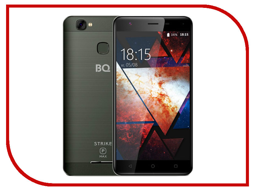 Сотовый телефон BQ 5521 Strike Power Max Mint Gray Brushed bq 2427 boom l gray