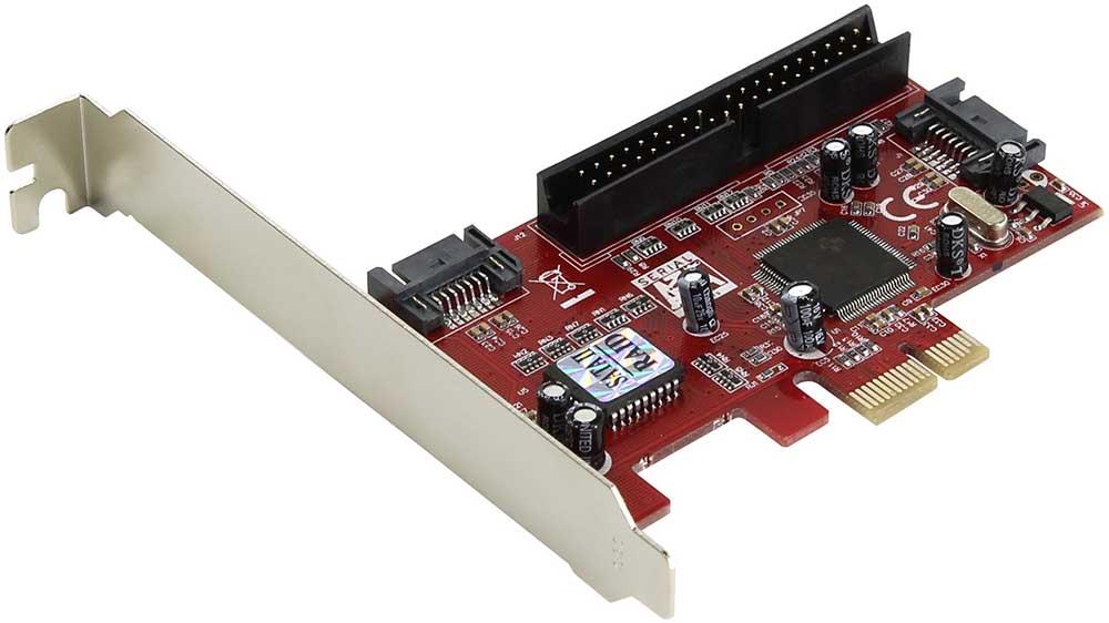 Контроллер Espada PCI-E SATA2 2port + eSata 2port+IDE RAID JMB363 PCIE005