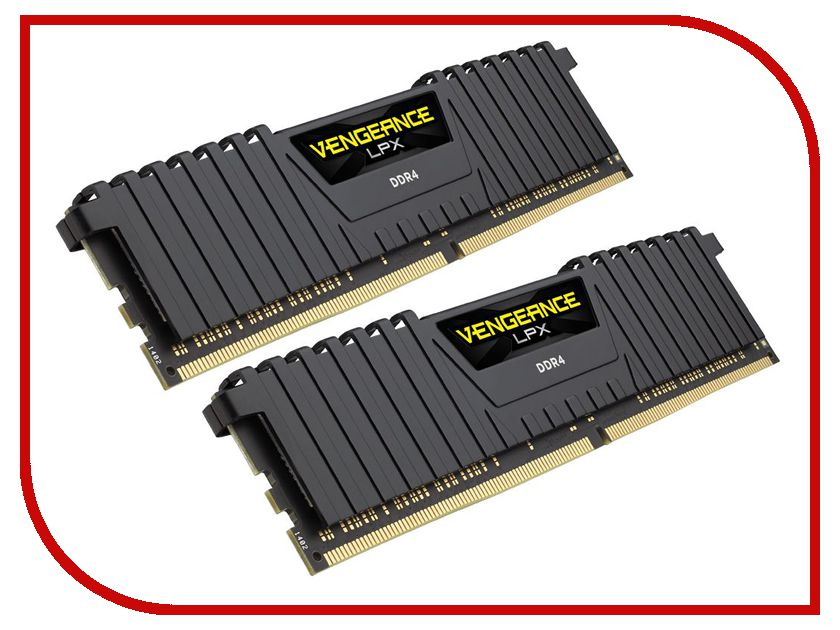 Модуль памяти Corsair Vengeance LPX DDR4 DIMM 2400MHz PC4-19200 CL16 - 32Gb KIT (2x16Gb) CMK32GX4M2Z2400C16 модуль памяти corsair vengeance lpx cmk32gx4m4b3733c17r ddr4 4x 8гб 3733 dimm ret