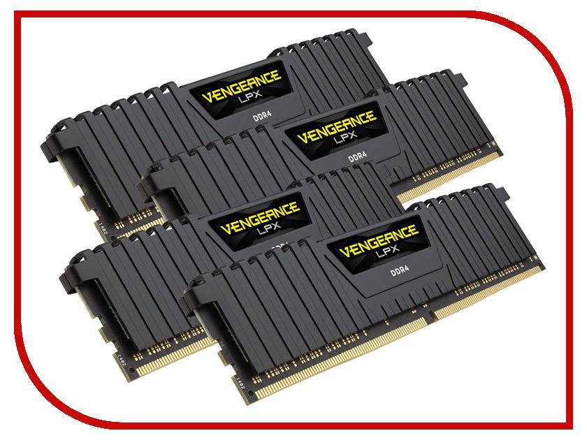 Модуль памяти Corsair Vengeance LPX DDR4 DIMM 3000MHz PC4-24000 CL15 - 64Gb KIT (4x16Gb) CMK64GX4M4C3000C15