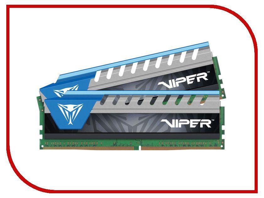 Модуль памяти Patriot Memory Viper Elite DDR4 DIMM 2666MHz PC4-21300 CL15 - 8Gb KIT (2x4Gb) PVE48G266C6KBL Blue pfl60gs25ssdr patriot memory