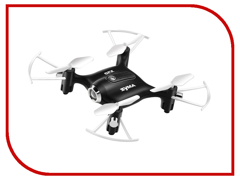 Квадрокоптер Syma X20 Black original syma x5hc x5hw drone without camera parts rc quadcopter with remote control transmitter retail packaging