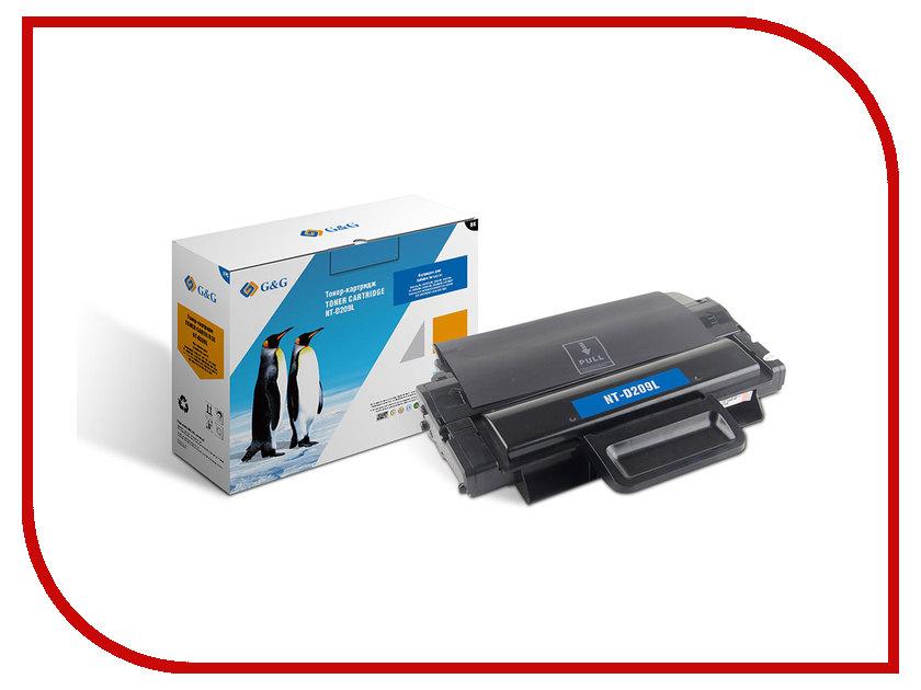 Картридж G&G NT-D209L для ML-2855ND SCX-4824FN/4825FN/4826FN/4828FN картридж promega print mlt d209l для samsung scx 4824fn 4828fn ml 2855nd