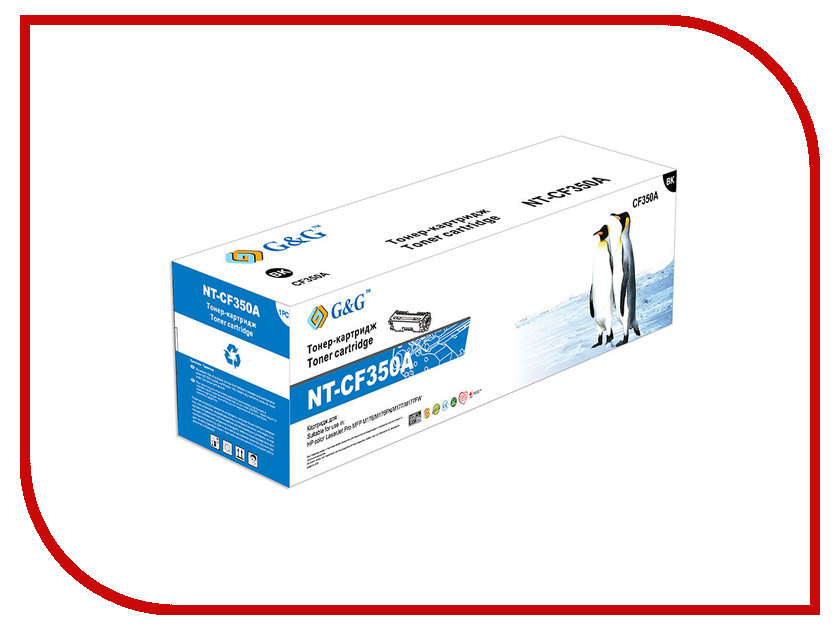Картридж G&G NT-CF350A Black для LaserJet Pro Color M176/176FN/M177/M177FW g&g nt d104s тонер картридж для samsung ml 1660 1661 1665 scx 3200 3205 3207 3210 3217
