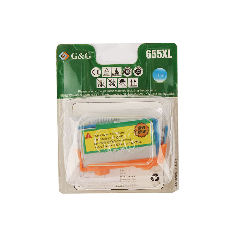 Картридж G&G NH-CZ110AE Cyan для DJ 3525/4515/4615/4525/4625/5525/6525