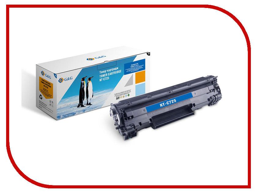 Картридж G&G NT-C725 для LBP6018 / HP LJ P1102/1102w Pro M1130/1212 картридж t2 для hp tc h85a laserjet p1102 1102w pro m1132 m1212nf m1214nfh canon i sensys lbp6000 cartrige 725 1600 стр с чипом
