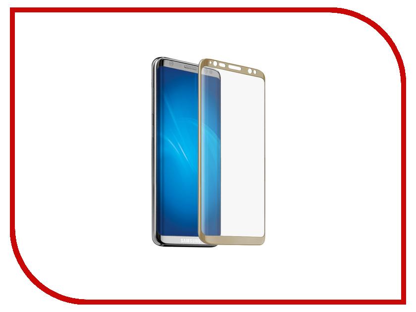 Аксессуар Защитное стекло Samsung Galaxy S8 Plus Neypo 3D Full Glass Gold frame NG3D0022
