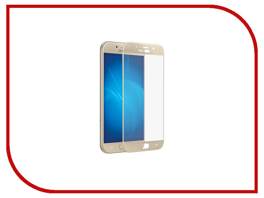 Аксессуар Защитное стекло Samsung Galaxy A3 2017 Neypo Full Screen Glass Gold frame NFG0020 аксессуар защитное стекло samsung galaxy a3 2017 solomon full cover black