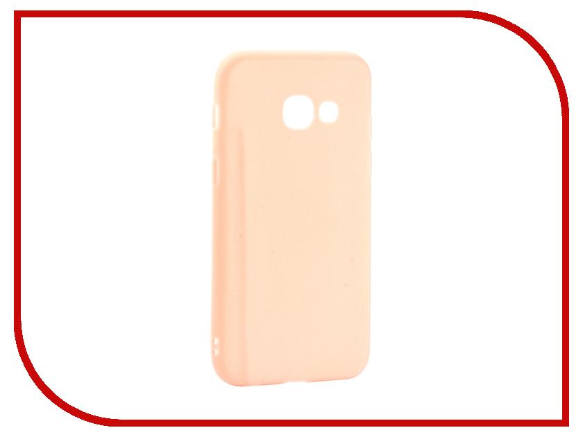 Аксессуар Чехол Samsung Galaxy A3 2017 Neypo Soft Matte Silicone Light Pink NST2918 аксессуар чехол накладка samsung galaxy a3 2017 skinbox silicone chrome border 4people silver t s sga32017 008