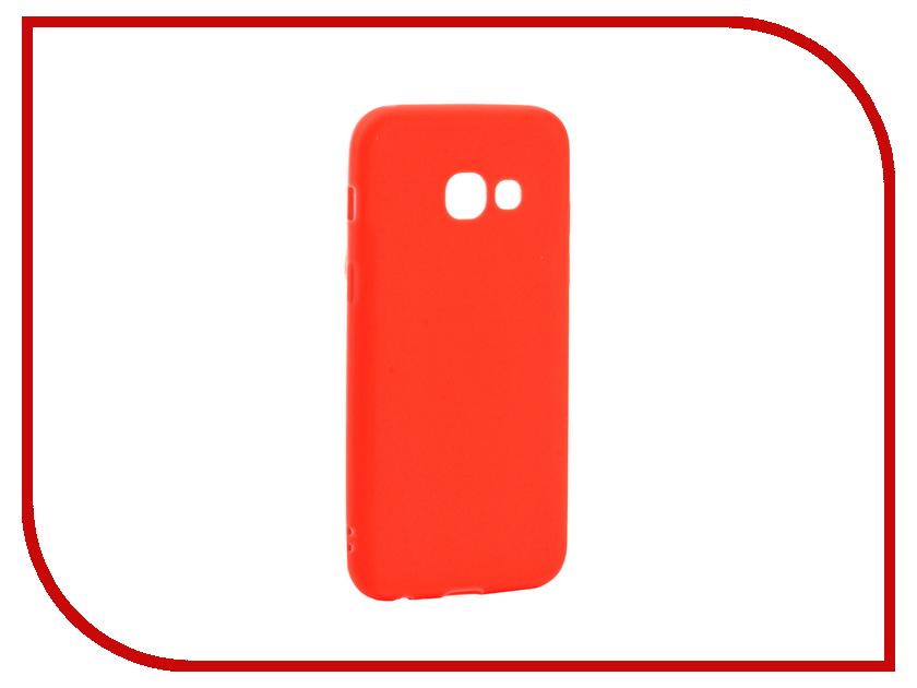 Аксессуар Чехол Samsung Galaxy A3 2017 Neypo Soft Matte Silicone Red NST2907