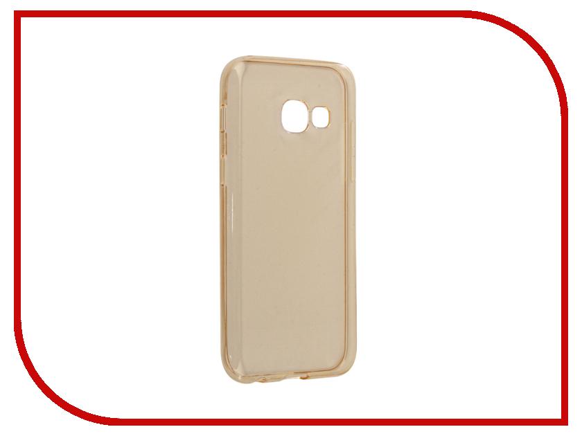 Аксессуар Чехол Samsung Galaxy A3 2017 Neypo Silicone Transparent-Gold NST2101 аксессуар чехол накладка samsung galaxy a3 2017 skinbox silicone chrome border 4people silver t s sga32017 008