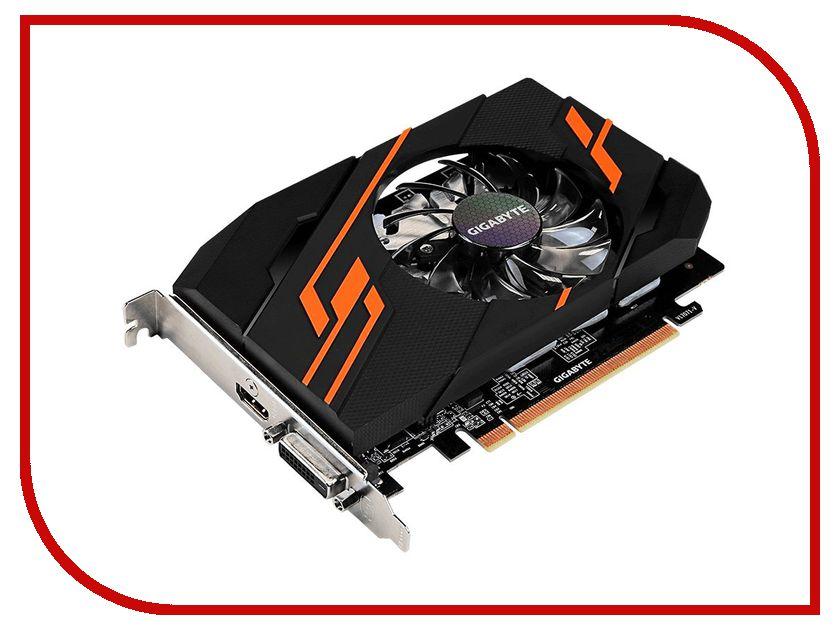 Видеокарта GigaByte GeForce GT 1030 1265Mhz PCI-E 2048Mb 6008Mhz 64 bit DVI HDMI HDCP Ret GV-N1030OC-2GI видеокарта 6144mb msi geforce gtx 1060 gaming x 6g pci e 192bit gddr5 dvi hdmi dp hdcp retail
