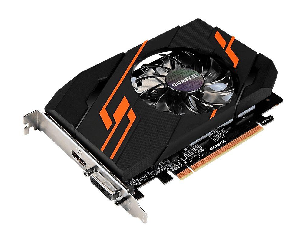 Видеокарта GigaByte GeForce GT 1030 1265Mhz PCI-E 2048Mb 6008Mhz 64 bit DVI HDMI HDCP Ret GV-N1030OC-2GI видеокарта gigabyte geforce gt 730 gv n730d5 2gl pci e 2048mb 64 bit retail