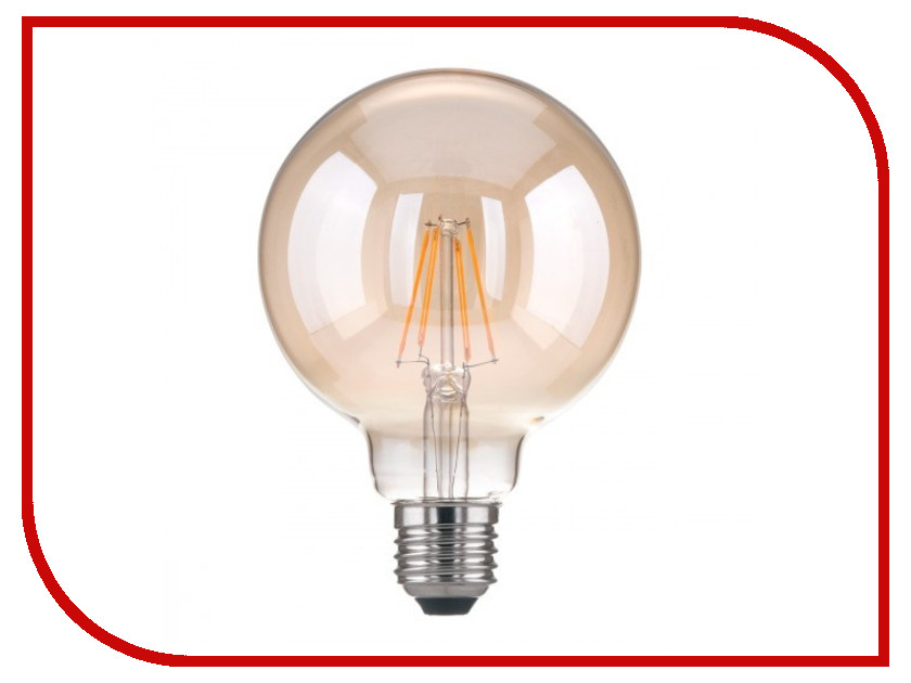 Лампочка Elektrostandard Classic F E27 6W 3300K elektrostandard лампа светодиодная elektrostandard classic груша матовая e27 17w 3300k 4690389086007
