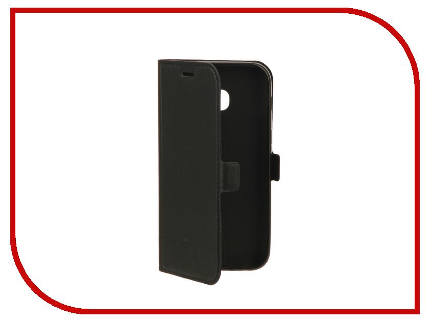 Аксессуар Чехол Samsung Galaxy A3 (2017) DF sFlip-13 Black