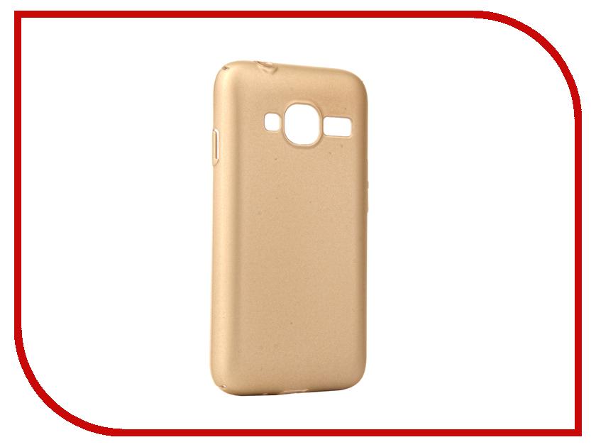 Аксессуар Чехол Samsung Galaxy J1 Mini Prime J106 2017 Neypo Soft Touch Gold ST2720