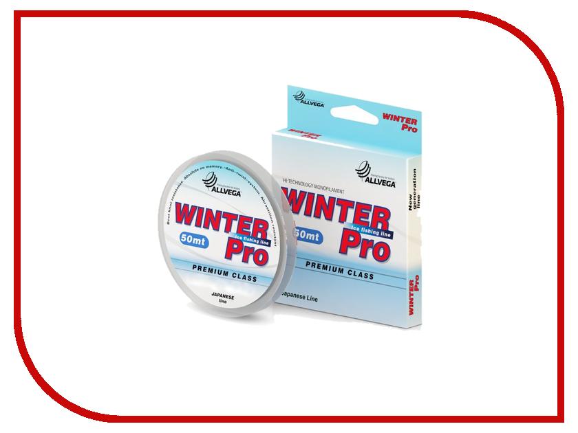 Леска Allvega Winter Pro 50m 0.105mm Transparent WPRO50105