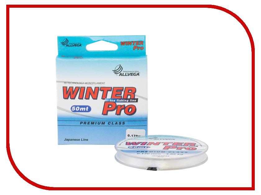 Леска Allvega Winter Pro 50m 0.153mm Transparent WPRO50153