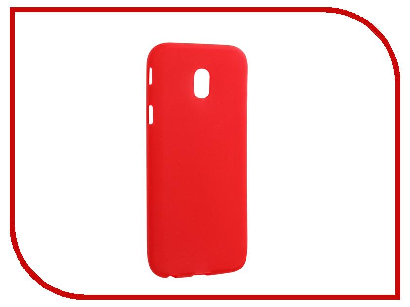 Аксессуар Чехол для Samsung Galaxy J3 2017 J330 Neypo Silicone Soft Matte Red NST2556 аксессуар чехол samsung j3 2017 j330f zibelino clear view black zcv sam j330 blk