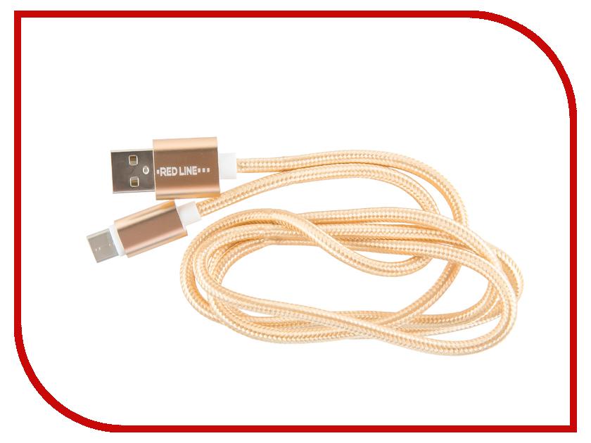 Аксессуар Red Line USB - Type-C 2.0 Gold УТ000011691 аксессуар red line smart high speed usb type c white