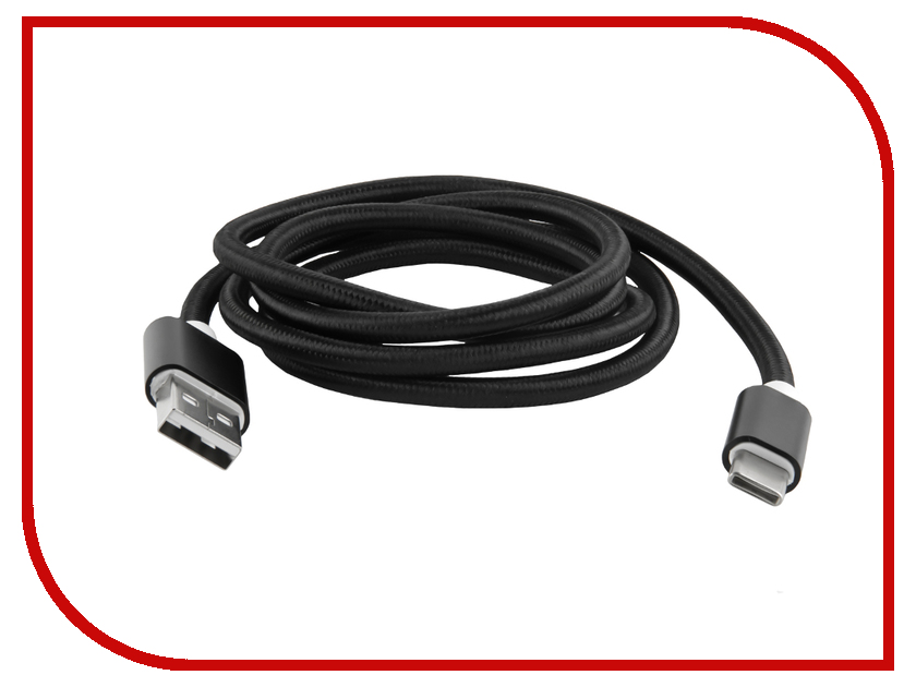 Аксессуар Red Line USB - Type-C 2.0 Black УТ000012585 аксессуар perfeo usb 2 0 a usb type c 1m black red u4901