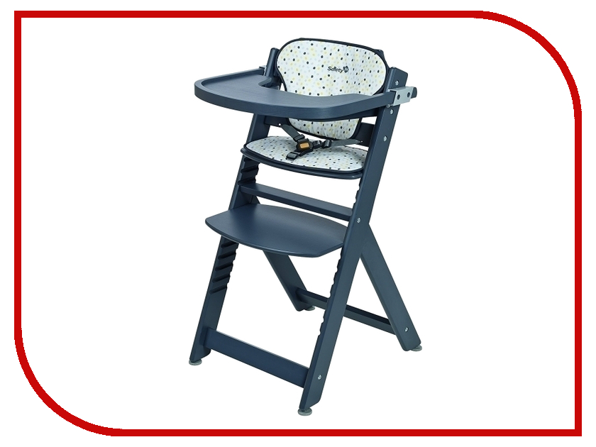 Стул Safety 1st Timba with Tray and Cushion + мягкий вкладыш Grey Patches 27609490