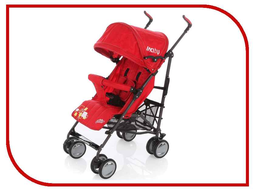 Коляска Baby Care In City Red коляска baby care baby care коляска для двойни tandem grey red