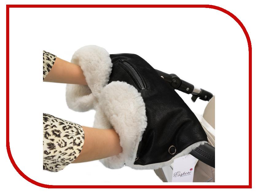 Муфта для коляски Esspero Stella (овечья шерсть) Black 512223334-108063779 сумка для коляски esspero bag black 105378