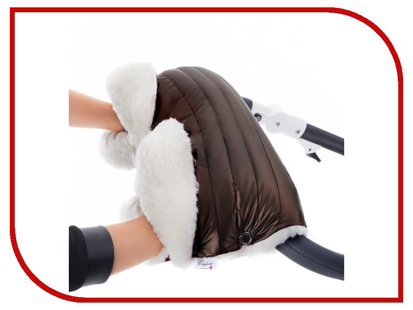 Муфта для коляски Esspero Soft Fur Lux (натуральная шерсть) Mocca RV51260020-108073464 матрас в коляску esspero baby cotton lux heart 5122621