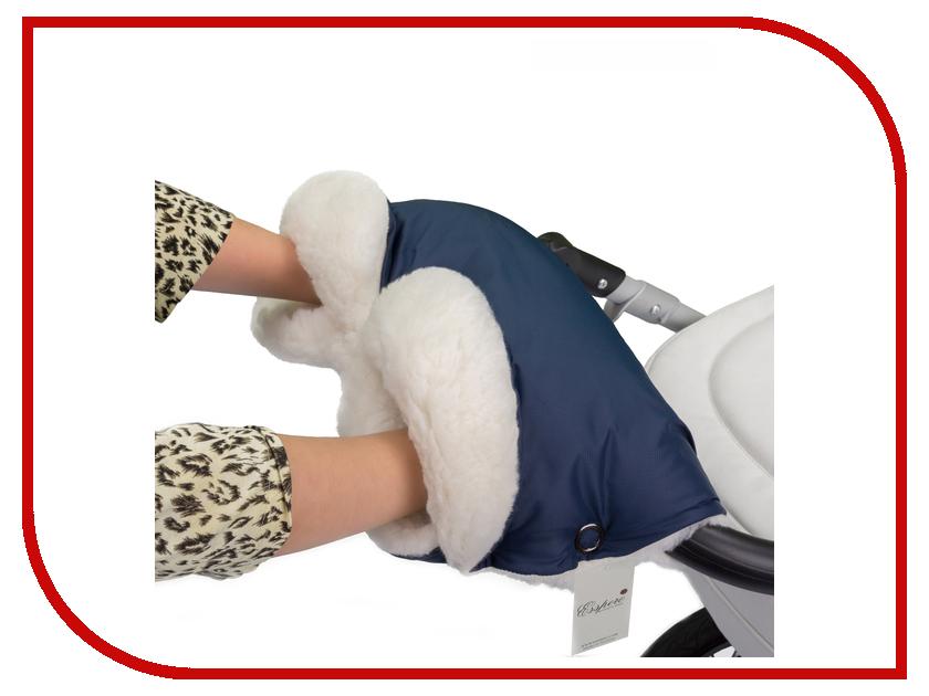 Муфта для коляски Esspero Soft Fur Lux (натуральная шерсть) Navy RV51260020-108064369 матрас в коляску esspero baby cotton lux heart 5122621