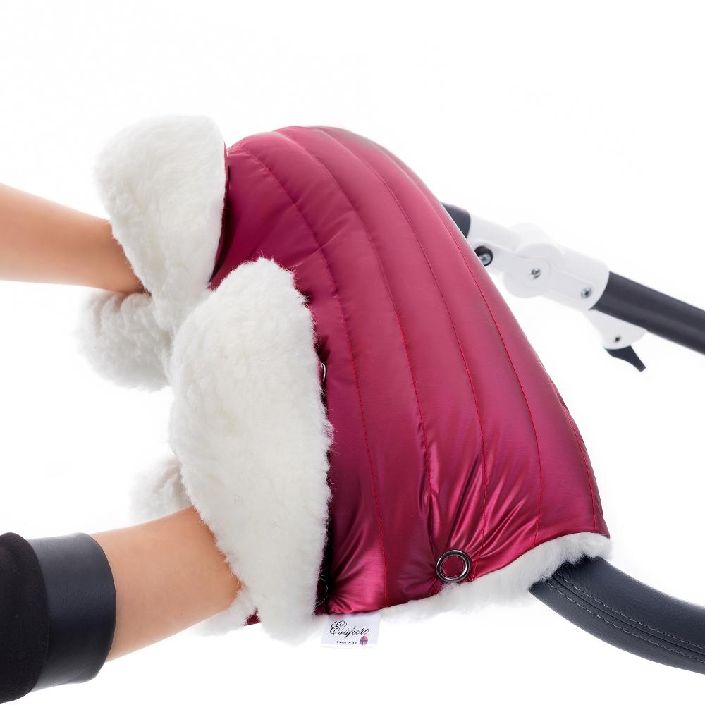 Муфта для коляски Esspero Soft Fur Lux (натуральная шерсть) Ruby RV51260020-108073463