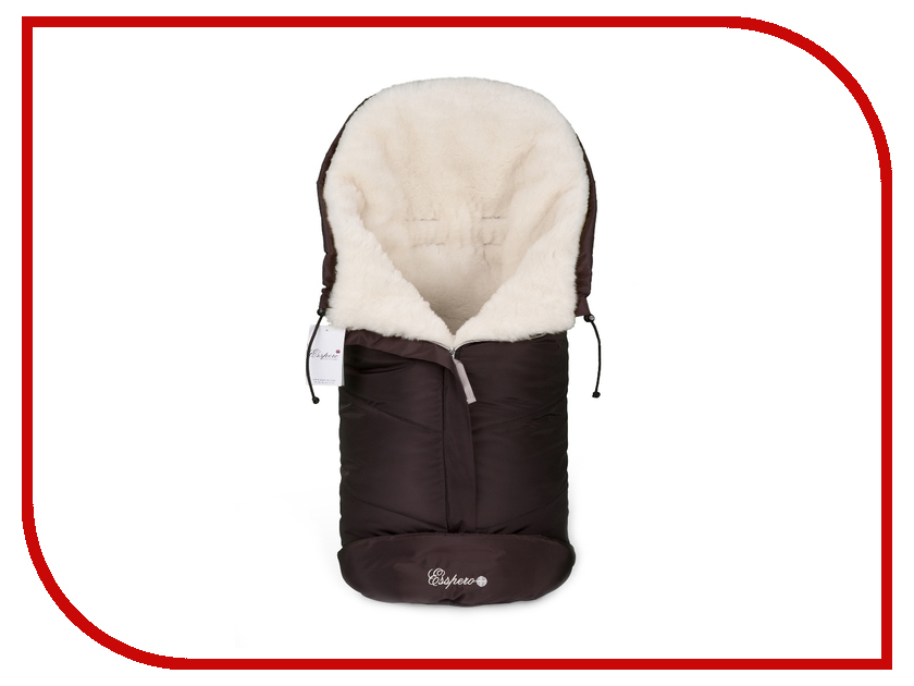 Конверт в коляску Esspero Sleeping Bag White (натуральная шерсть) Chocolat RV52425-108068600 esspero i nova white coffee