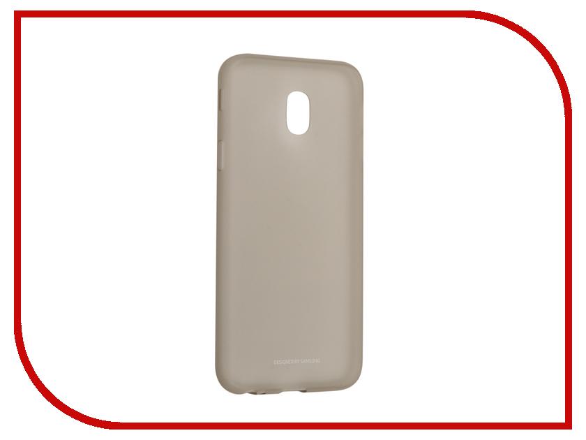 Аксессуар Чехол Samsung Galaxy J3 2017 SM-J330 Layer Cover Gold EF-AJ330TFEGRU аксессуар чехол samsung galaxy j7 2017 sm j730f wallet cover gold ef wj730cfegru