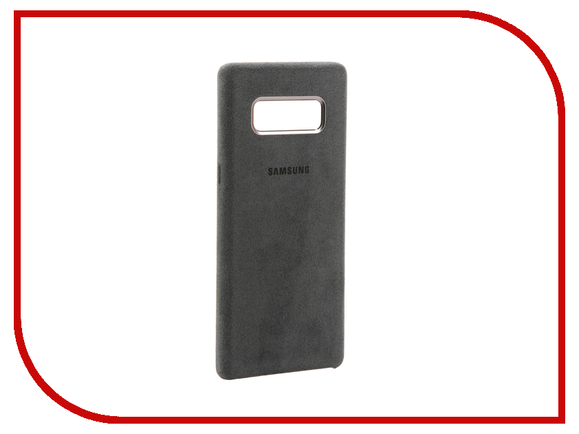 Аксессуар Чехол Samsung Galaxy Note 8 Alcantara Cover Great Dark Grey EF-XN950AJEGRU чехол клип кейс samsung alcantara cover great для samsung galaxy note 8 хаки [ef xn950akegru]